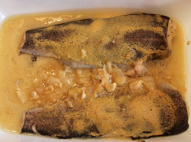 Пъстърва с дижонска горчица