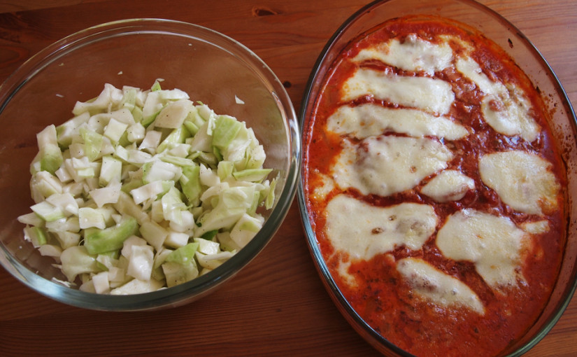Телешко с домати и моцарела